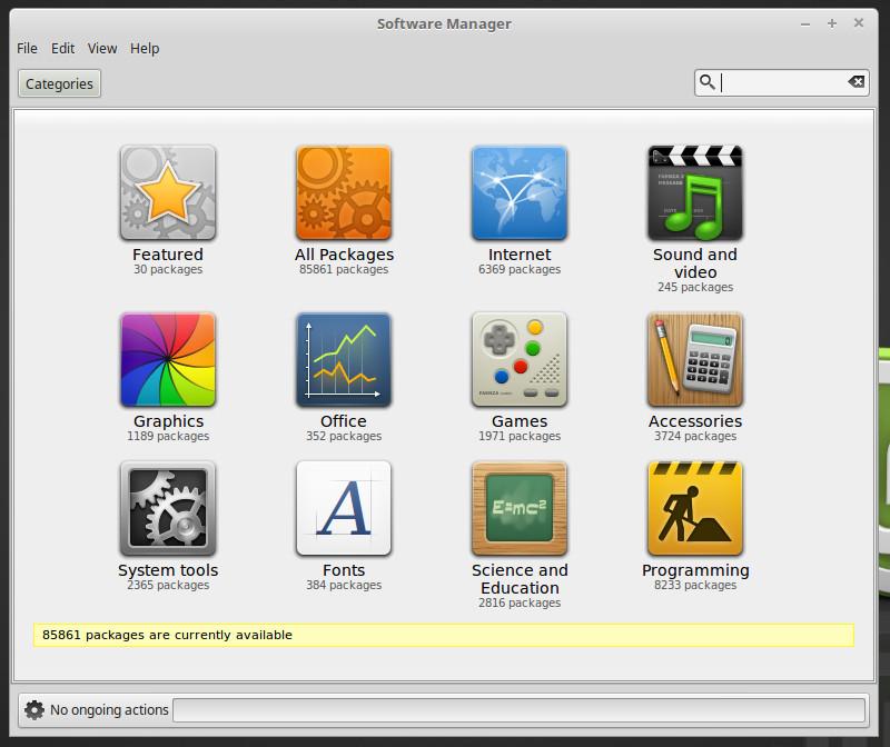 Gerente de software en Linux Mint