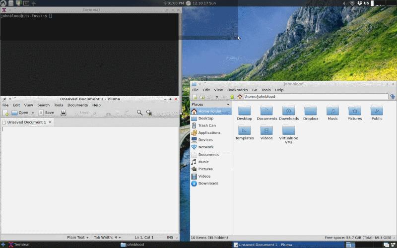 Captura de pantalla de LXLE Linux