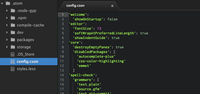 Atom Text Editor para Linux
