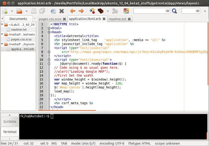 editor de texto geany ubuntu puede reemplazar Notepad ++ en Linux