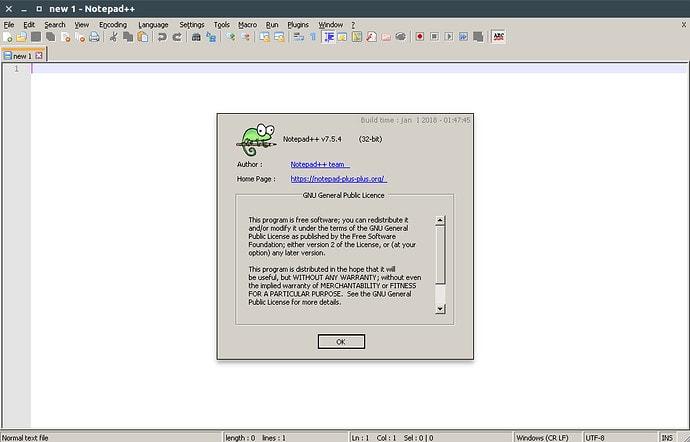 Notepad ++ para Linux usando Snap