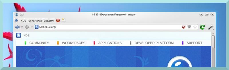 navegador web rekonq para Linux