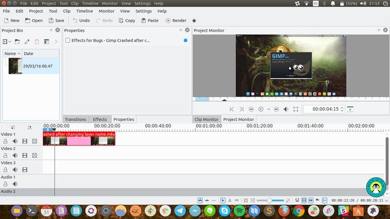 Kdenlive бесплатный редактор видео на Ubuntu