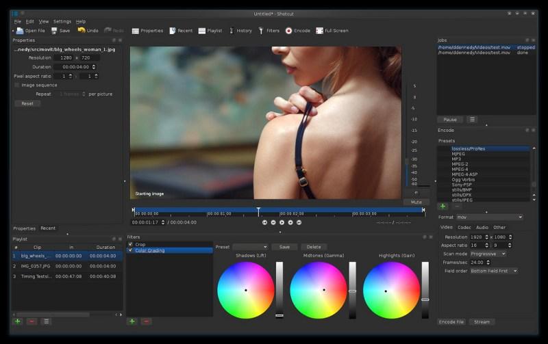 Shotcut Linux видео редактор