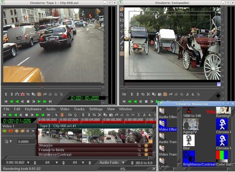 Cinelerra видео редактор для Linux