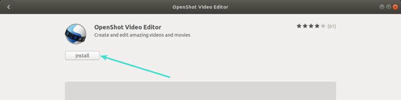 Openshot Ubuntu Software Center