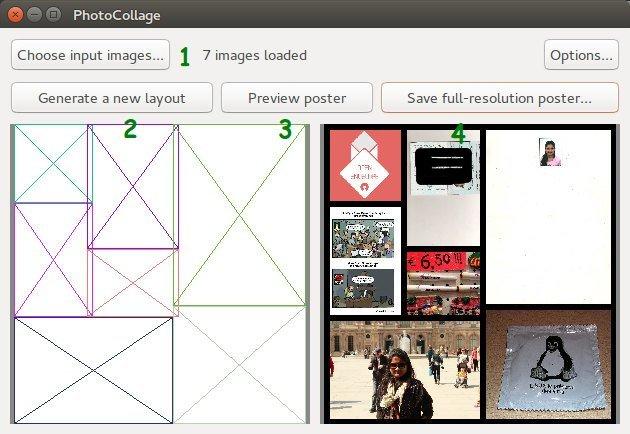 Приложение PhotoCollage Collage Maker для Linux
