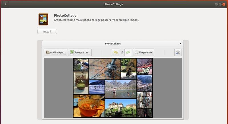 PhotoCollage создатель коллажей в Ubuntu Linux
