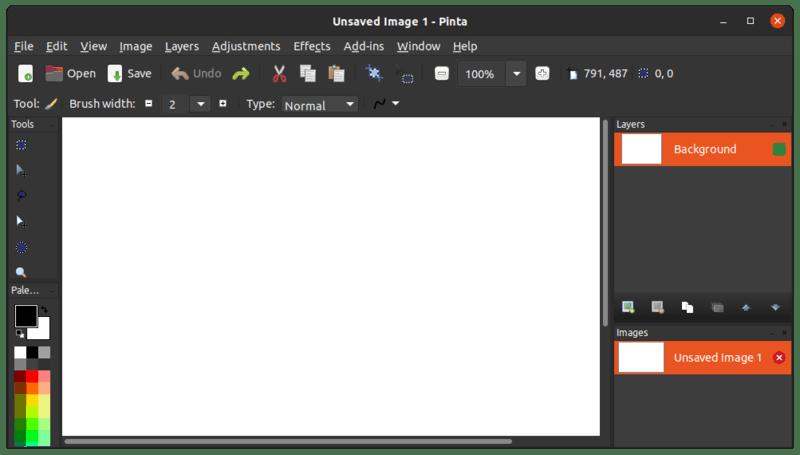 Приложение для рисования Pinta Ubuntu