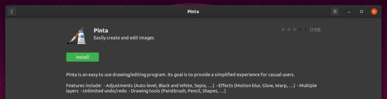 Пинта Ubuntu Software Center