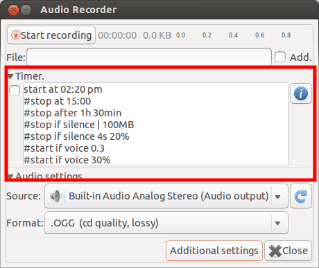 Grabadora de audio: Grabar audio en Ubuntu Linux