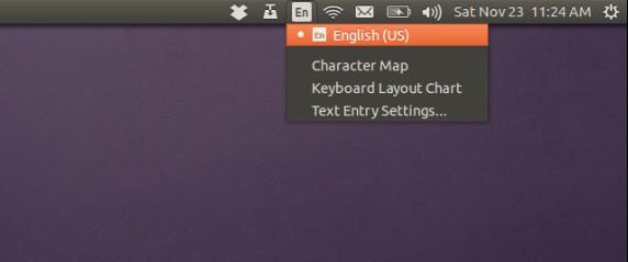 Ubuntuキーボードアプレットインジケーター