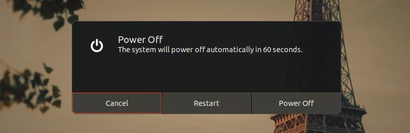 Reiniciar o apagar Ubuntu Linux
