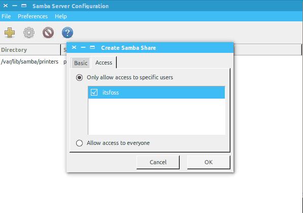настройка разрешений для общего доступа к папке в сети