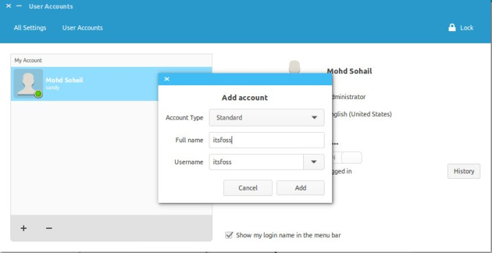 создать системную учетную запись пользователя в Ubuntu / Linux