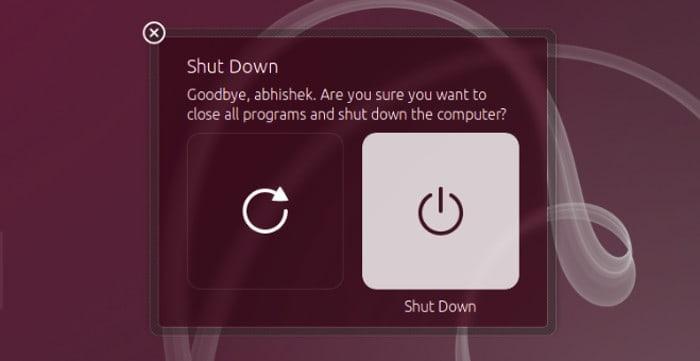 Deshacerse del cuadro de diálogo de confirmación de apagado en Ubuntu 14.04