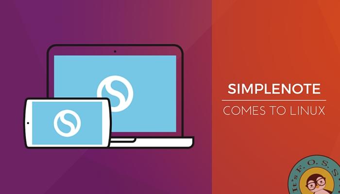 Simplenote ya está disponible en el escritorio de Linux