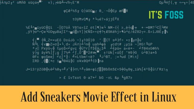 Agregue zapatillas como efecto en la terminal de Linux
