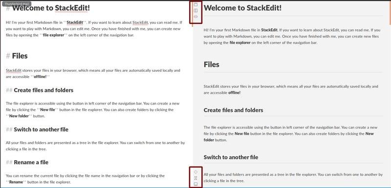 Pantalla principal de StackEdit