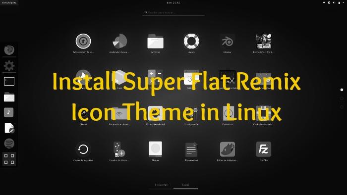 Temas de iconos de Super Flat Remix Linux