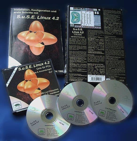 CD de lanzamiento de SUSE Linux 4.2