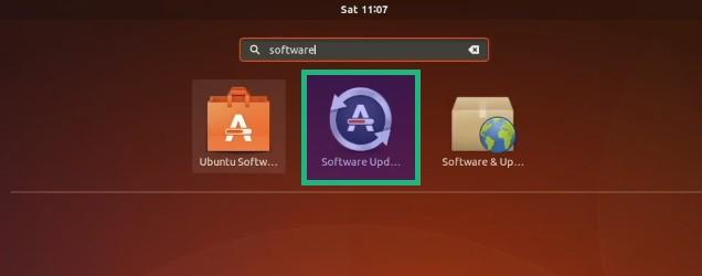 Actualizador de software en Ubuntu 17.10