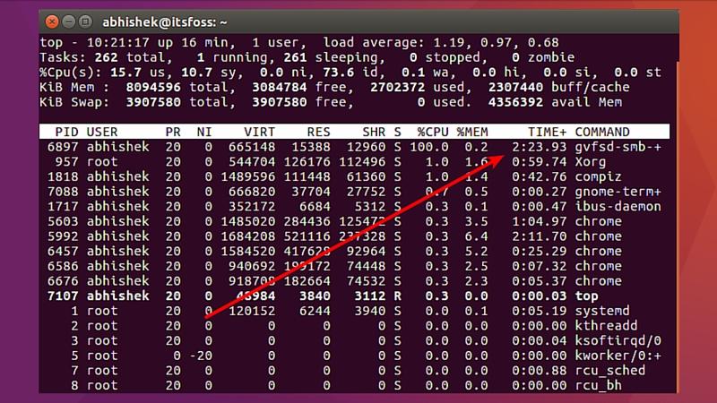 gvfsd-smb- + tomando 100% de CPU en Ubuntu 16.04