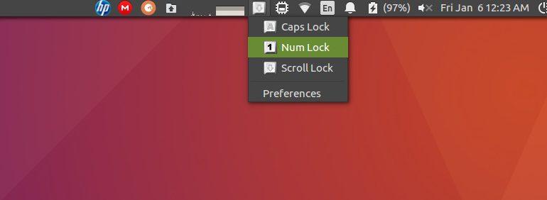 индикатор блокировки клавиш - лучший индикатор апплетов для Ubuntu 16.04