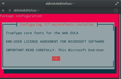 Acuerdo de ELA Extra Restringido de Ubuntu