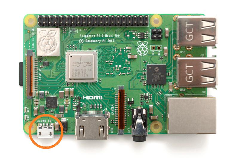 Raspberry Pi 3 Microusb