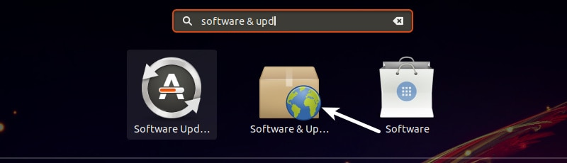 Ubuntu GNOMEのソフトウェアとアップデート