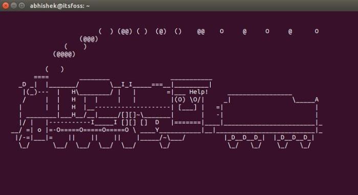 Tren terminal de Linux