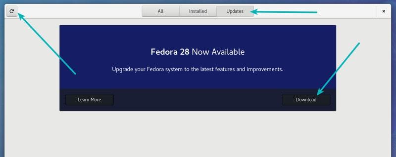 Actualice Fedora Linux a una versión más nueva