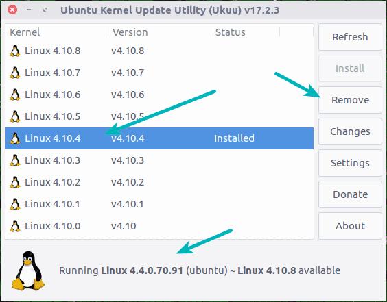 Menurunkan kernel Linux di Ubuntu dengan Ukuu