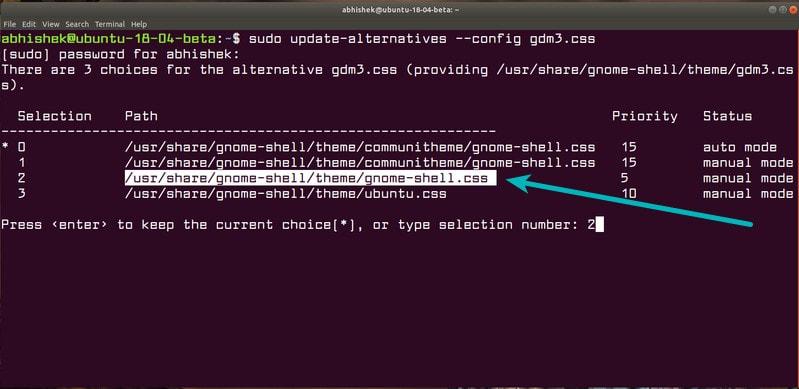 Recuperar el antiguo inicio de sesión de GNOME GDM