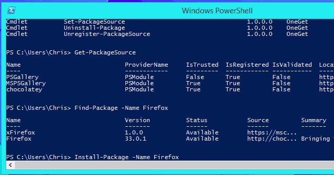 Administrador de paquetes de Windows 10