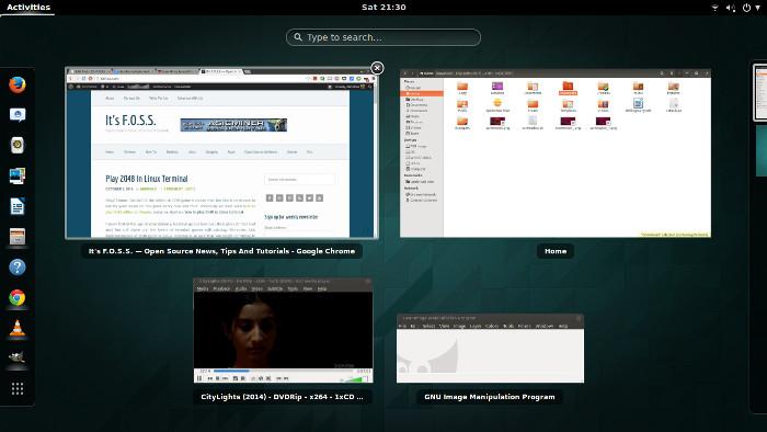 Ventana abierta Linux Gnome