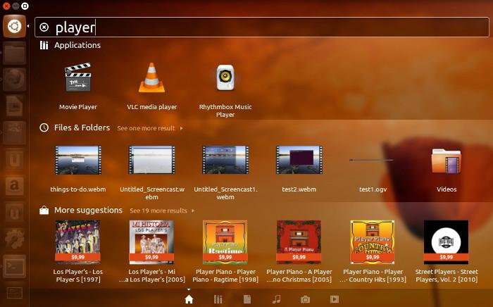 Ubuntu Unity Dash Search