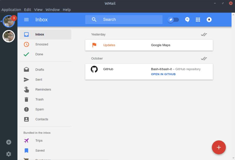 Wmail con cuenta de Google Inbox