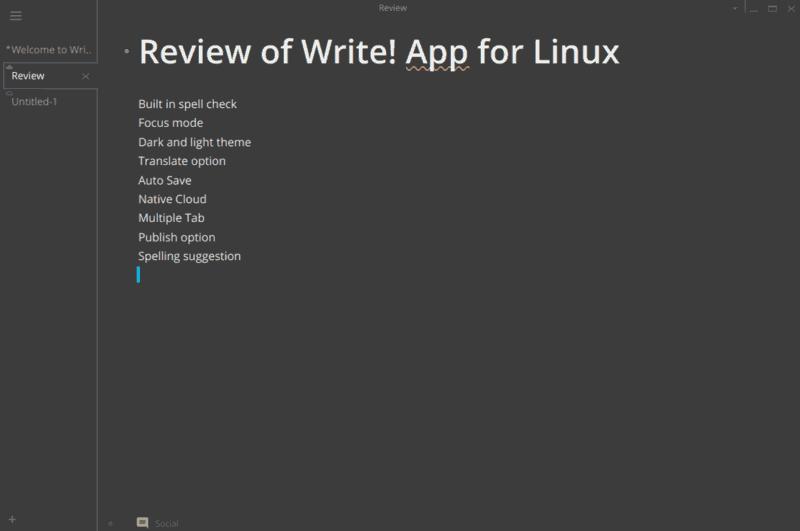 書く! Linux用アプリ