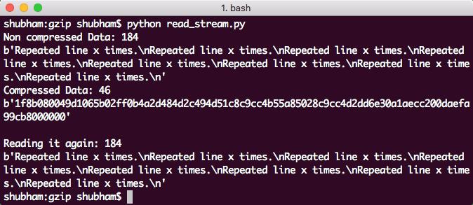 Lectura de archivo gzip en una secuencia