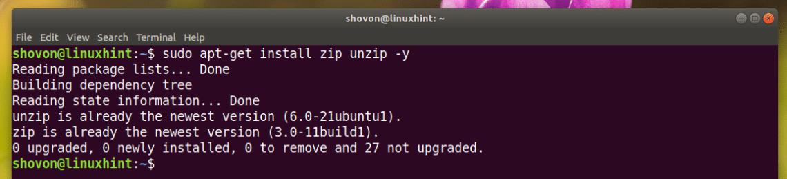 コマンド linux zip