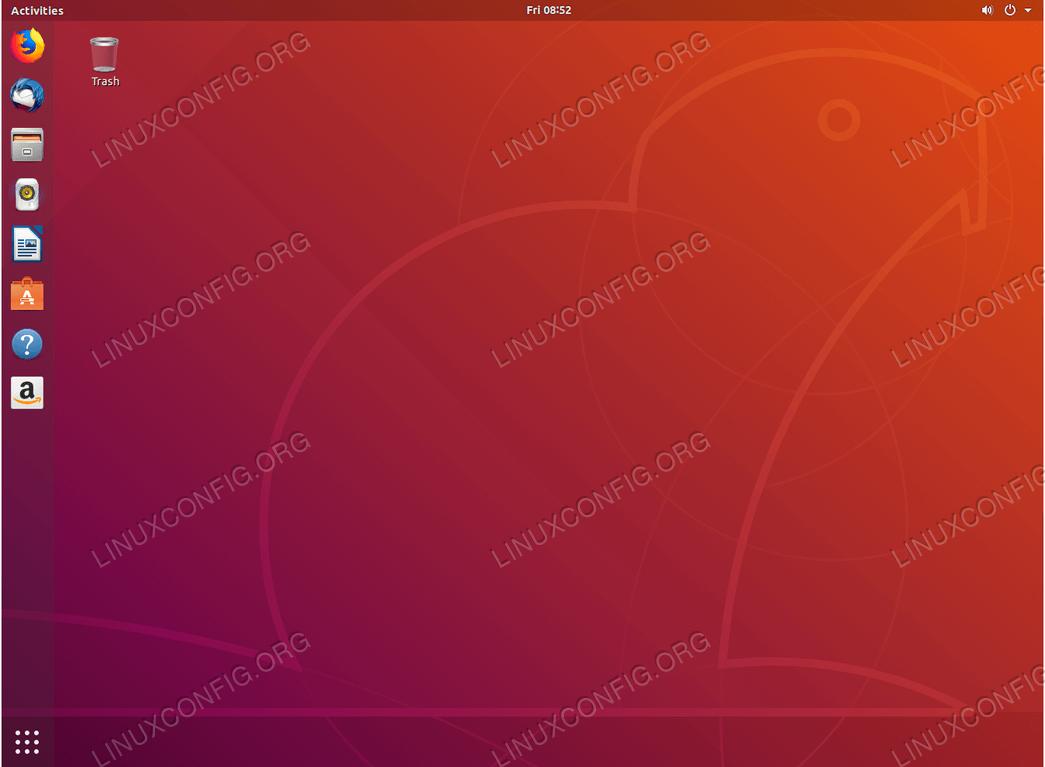 Полный рабочий стол Gnome в Ubuntu 18.04