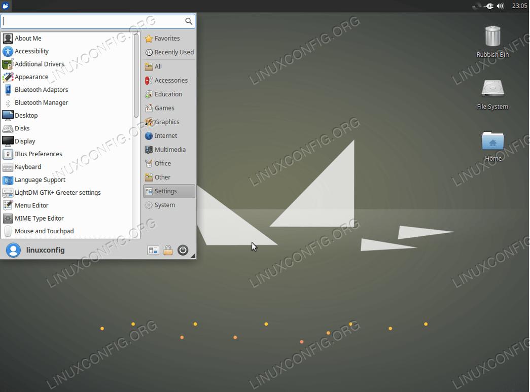 Рабочий стол Xubuntu в Ubuntu 18.04