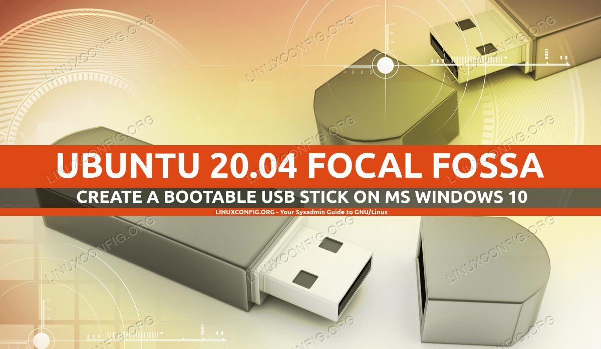 Создание загрузочного Ubuntu USB-флешки в MS Windows