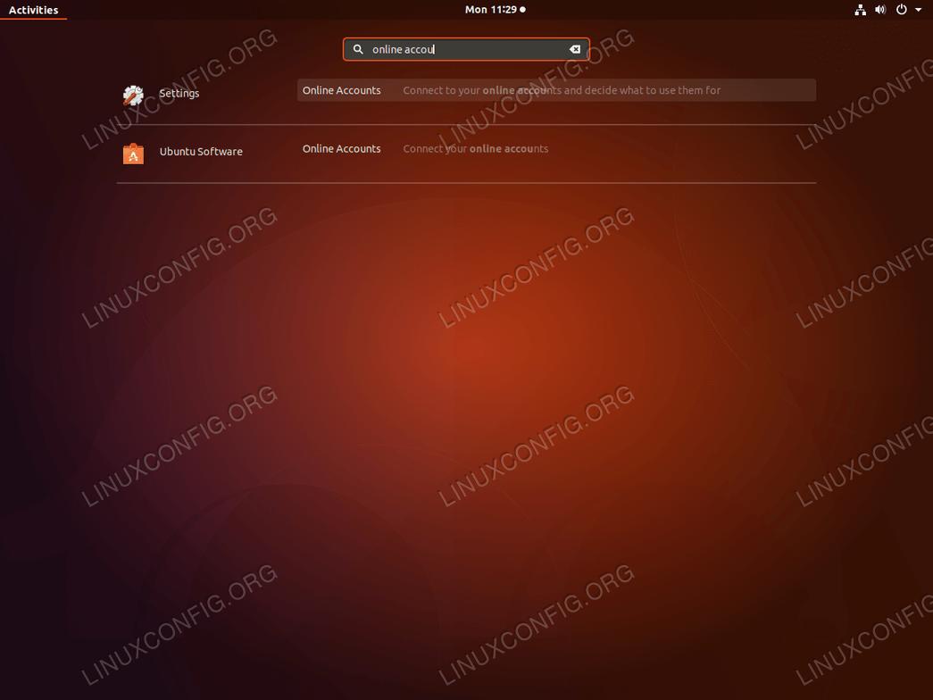 Google Drive Ubuntu 18.04 - запуск онлайн-аккаунтов