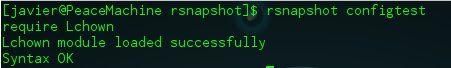 rsnapshot configtest
