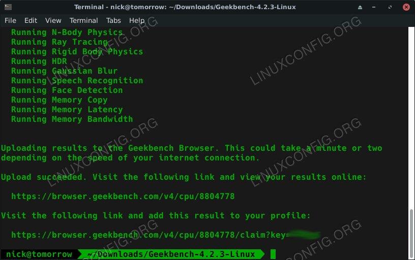 GeekBench Benchmark Закончено