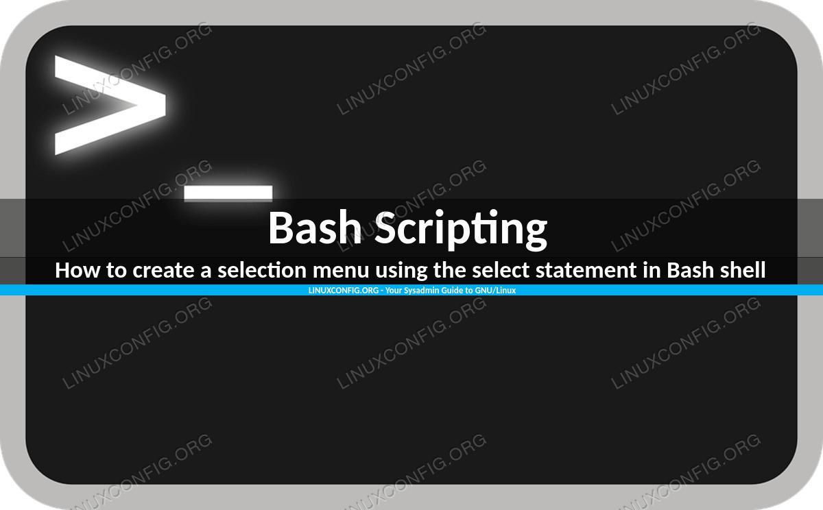 Как создать меню выбора с помощью оператора select в оболочке Bash