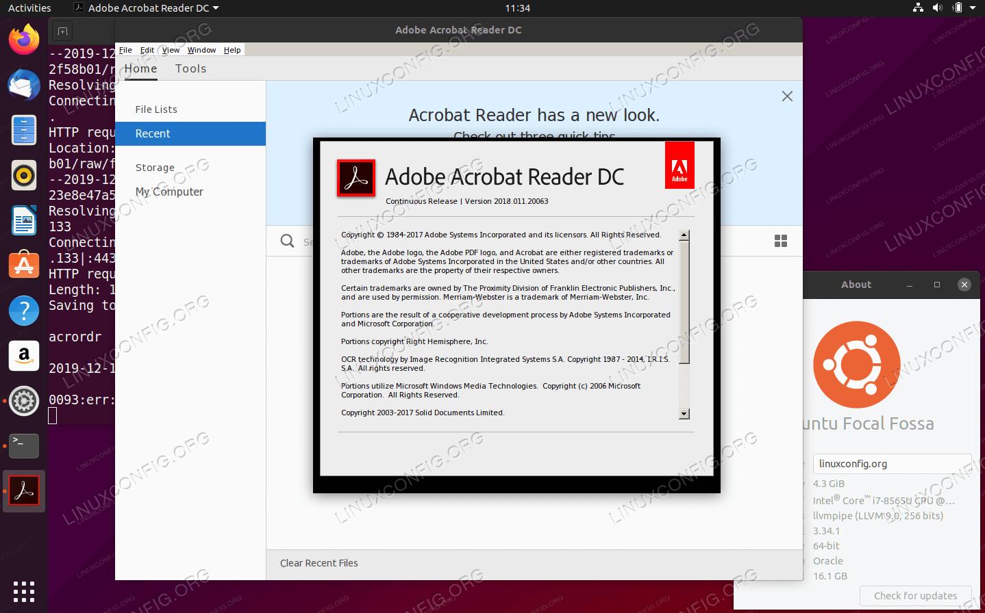 Adobe Acrobat Reader DC (WINE) в Ubuntu 20.04 Focal Fossa Linux